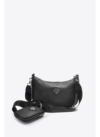 Vizon Ayakkabı Omuz Çantası Siyah